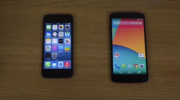iPhone-5S-iOS-8-vs-Nexus-5-Android-4.4.3-speed-test